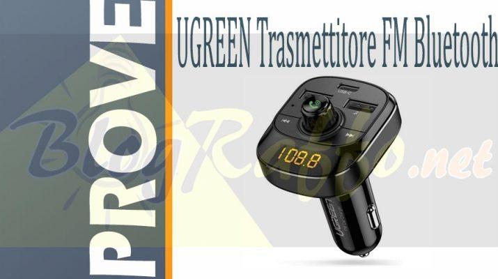 ugreen-vivavoce-5-0-usb-c-mp3-caricabatteria-da-auto-18w-trasmettitore-fm-bluetooth-prova-recensione-giudizio-test