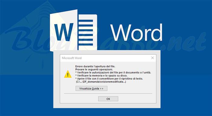 Word-Errore-durante-apertura-file