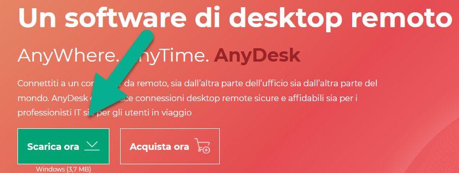 Anydesk utility per il controllo remoto