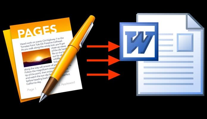 aprire file .pages su windows word