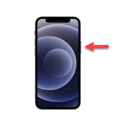 iphone 12 pulsante laterale accensione on off