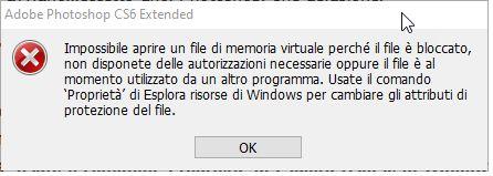 Impossibile aprire un file di memoria virtuale - Blograffo