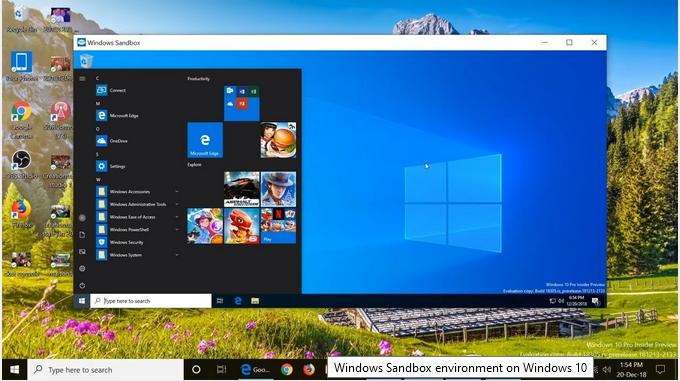 Windows-Sandbox-ambiente virtuale di windows 10